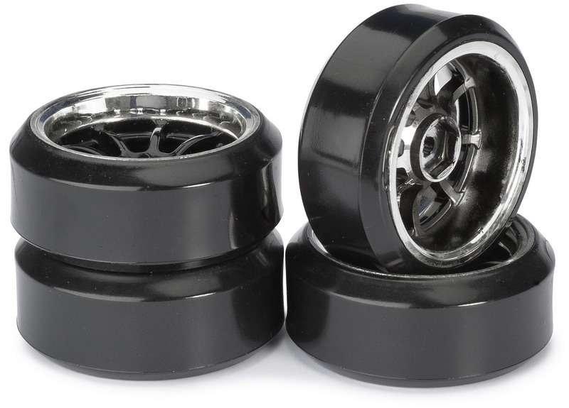 Driftové pneumatiky 1:10 včetně disků, 4ks