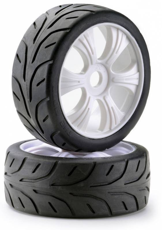 Silniční pneu 1:8 včetně disků, 2ks