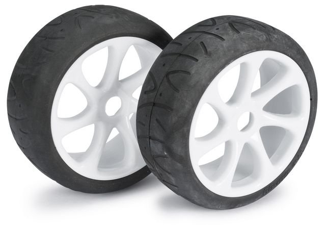 Wheel Set Buggy 7 Spoke / Street white 1:8 onroad