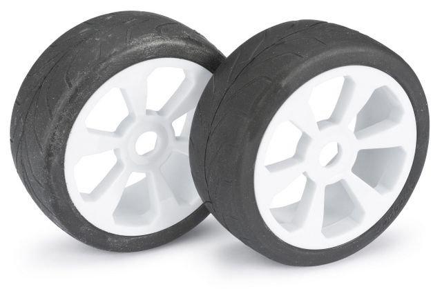 """Wheel Set Buggy """"6 Spoke / Street"""" white 1:8 (2 pcs)"""