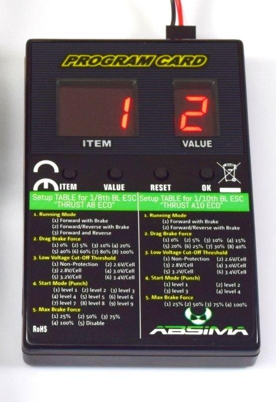 Programovací karta Absima Thrust BL ECO