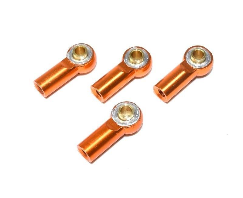 Kovový kulový čep, 2+2ks, pravo/levé, orange