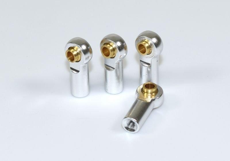 Kovový kulový čep, 2+2ks, pravo/levé, silver