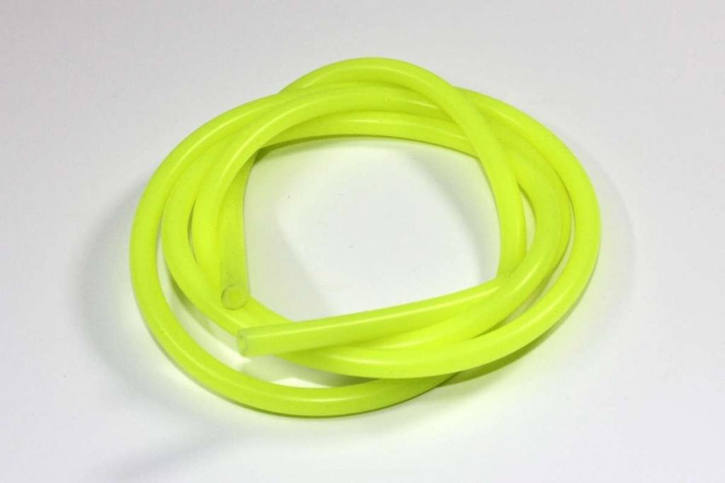 Silikonová palivová hadička vnitřní průměr 2mm žlutá