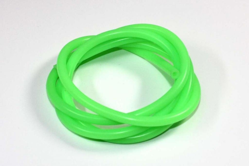 Silikonová palivová hadička vnitřní průměr 2mm zelená