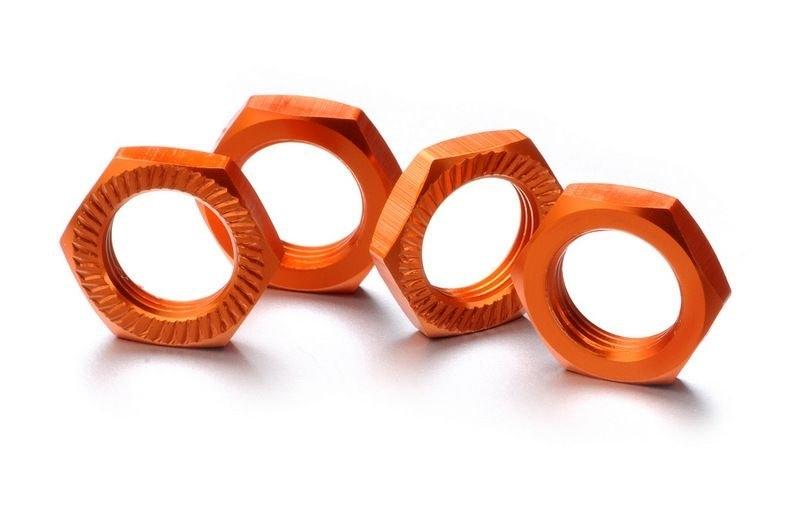 Matice kol 17mm 1:8 oranžové, stoupání 1, 4ks