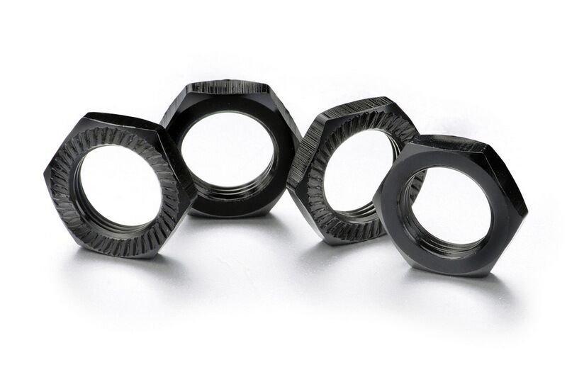 Matice kol 17mm 1:8 černé, stoupání 1, 4ks