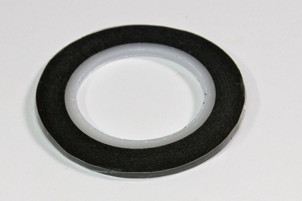Dekorační samolepící páska 2mm, černá