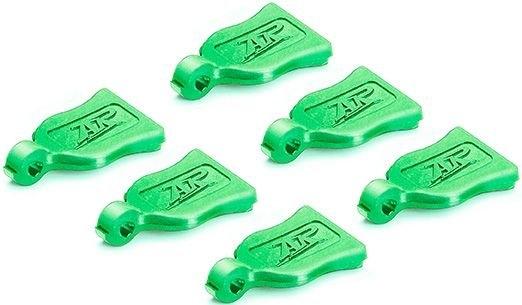 Praporky na sponky na karosérie - zelené