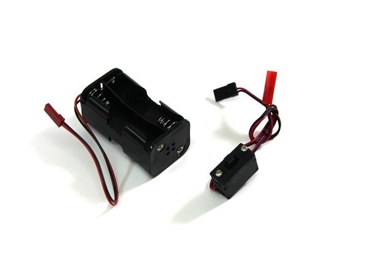 Pouzdro na 4x AA baterie včetně vypínače