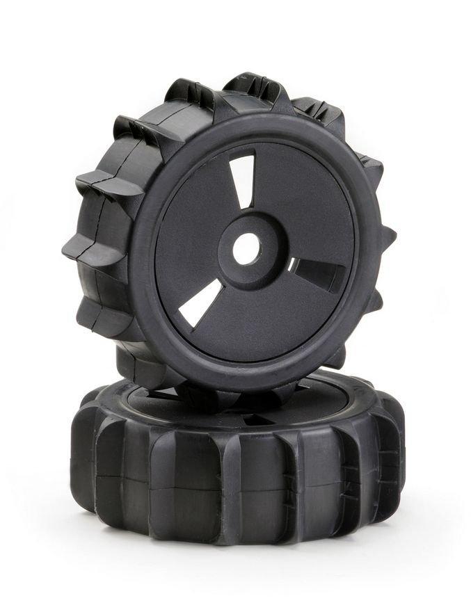 """Wheel Set Buggy Disc """"Sandpaddle"""" black 1:8 (2)"""