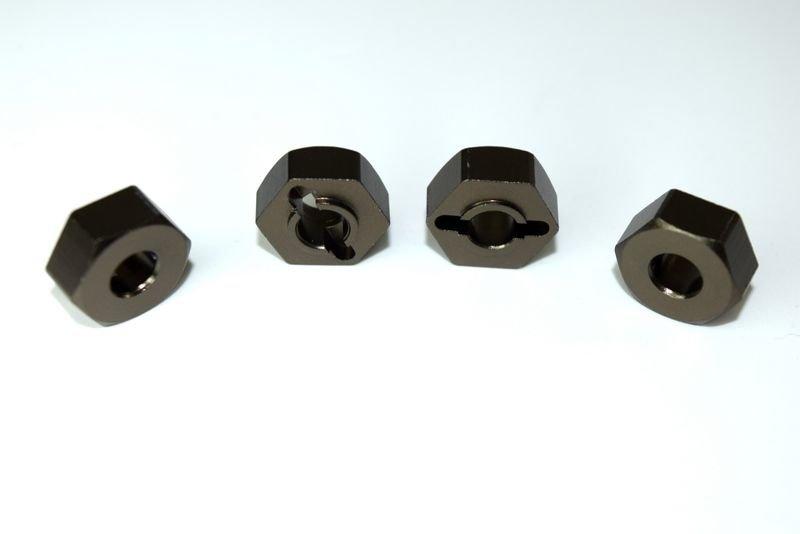Aluminum wheel hex hub (4) ATC 2.4 RTR/BL