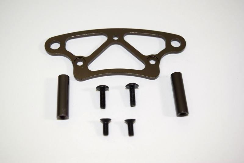 Aluminum front bumper upper plate ATC 2.4 RTR/BL