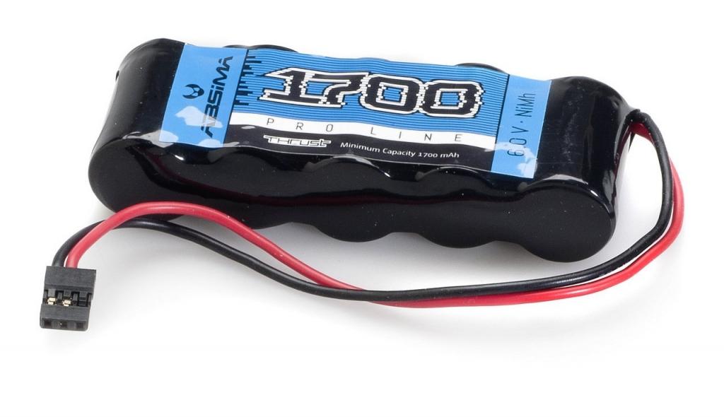 NiMH akumulátor 6V/1700mAh pro přijímač, konektor JR