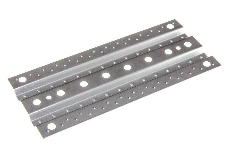 Přejezdové plechy 1:10, 1ks, kovové, profilované, stříbrné