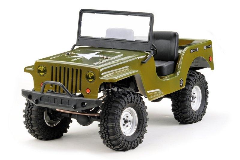 Absima 2410074 - Karosérie Absima CR2.4 Jeep 1:10 zelená