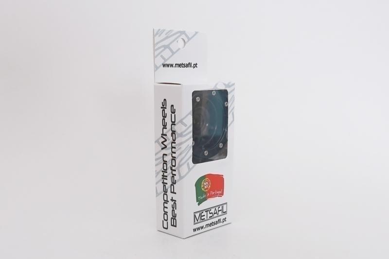 Kovové Beadlock CNC disky 1.9 PT Wave Black/Red, 2ks