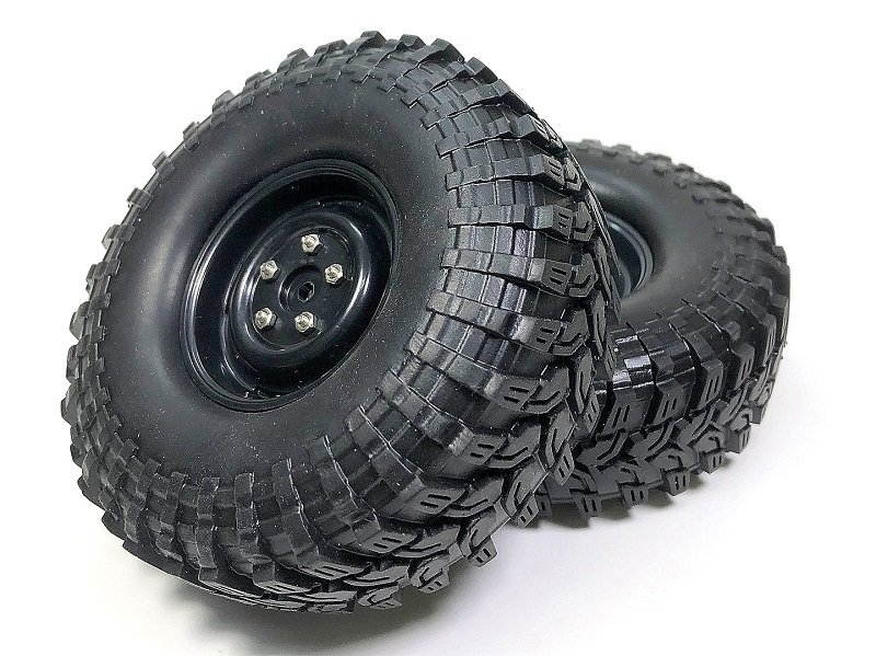 Pneumatiky + disky Crawler All Terrain 110mm, černé, 2ks