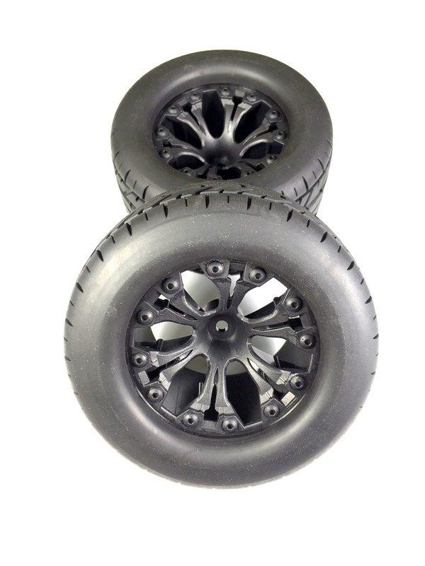 Sada silničních pneu Monster 1:10 včetně disků, 2ks