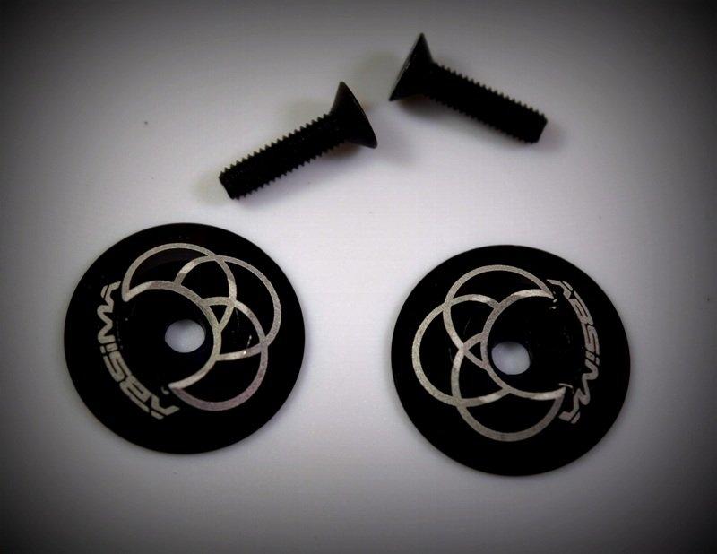 Hliníkové podložky pro přichycené spoileru, černé, 2ks