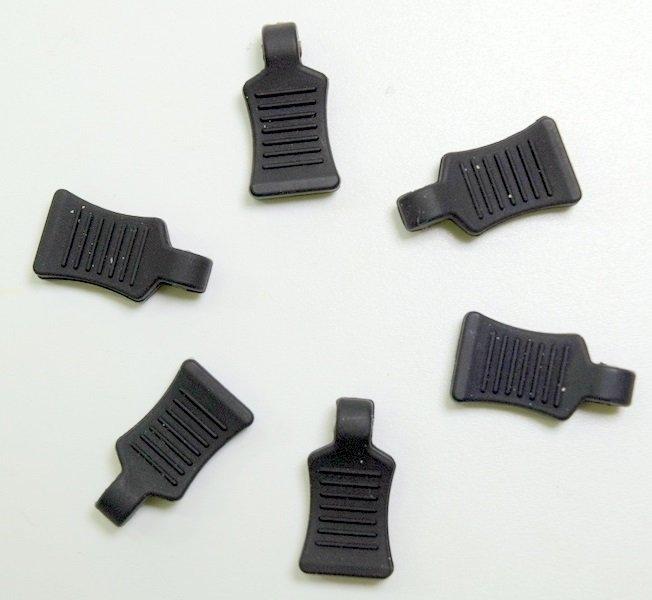 Praporky na sponky na karosérie - černé