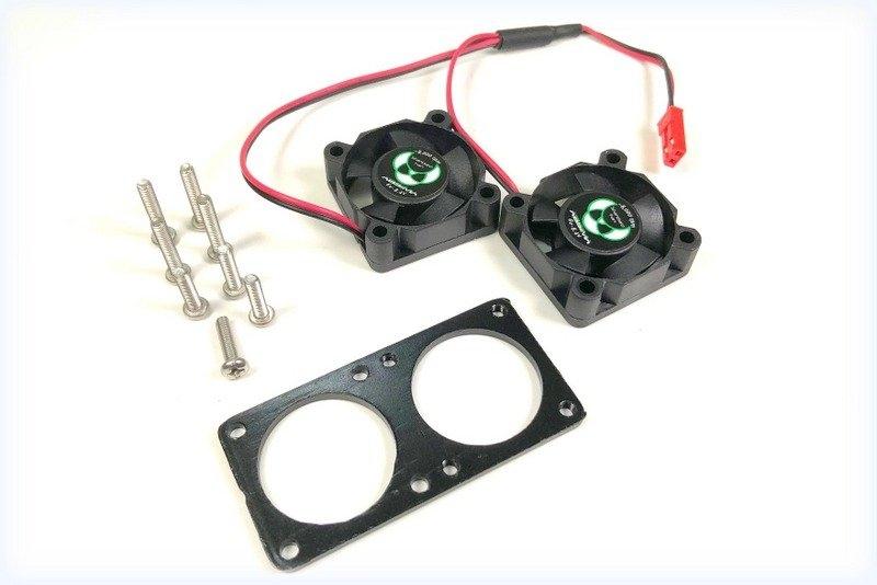 Výkonné duo ventilátorů 30x30mm pro aktivní chladiče, 8000ot/min.