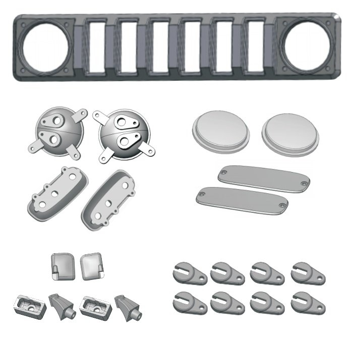 Gen8 Scout Accessory Kit for clear body