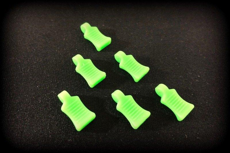 Praporky na sponky na karosérie - zelené fluorescentní