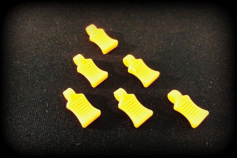 Praporky na sponky na karosérie - oranžové fluorescentní
