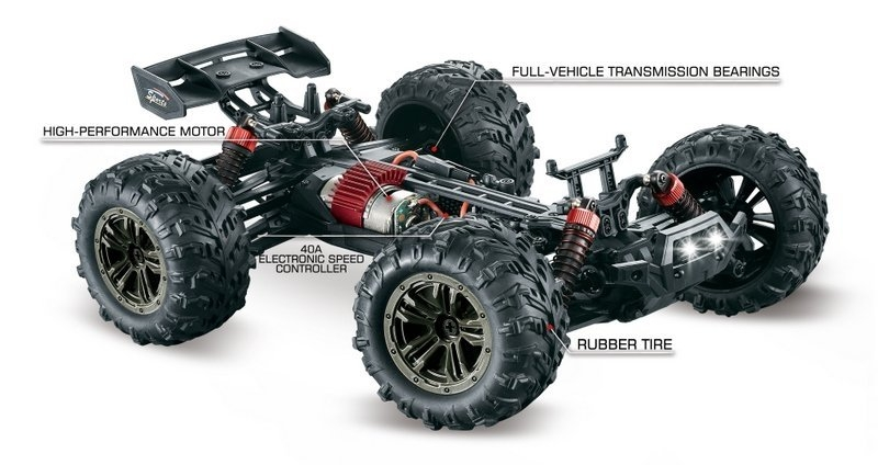 Spirit Racer Truggy 4WD 1:16 RTR zelená