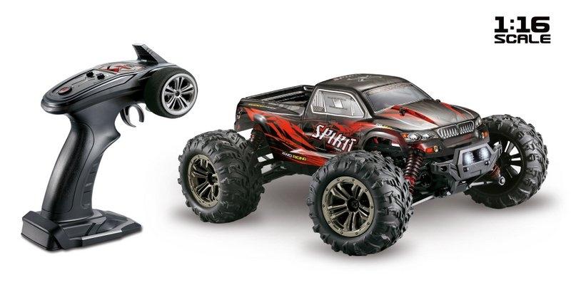 Spirit Monster Truck 4WD 1:16 RTR červený