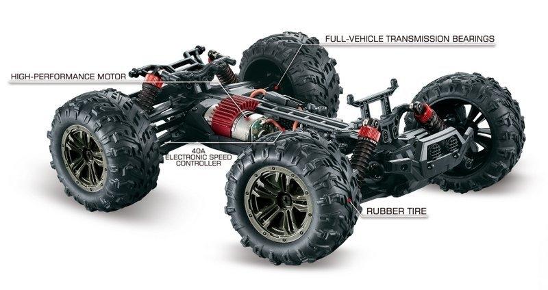 Spirit Monster Truck 4WD 1:16 RTR modrý