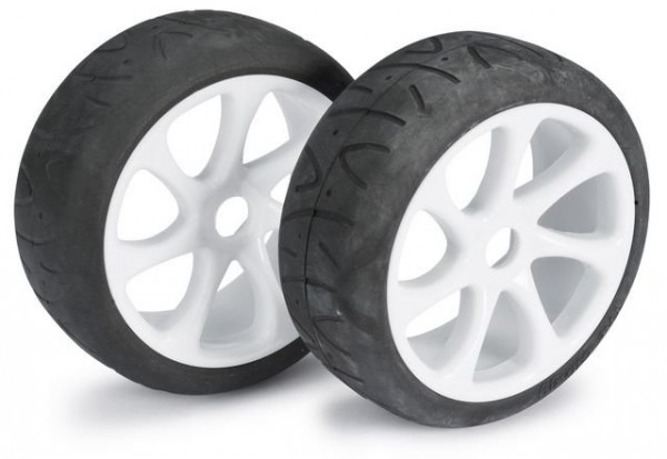 Wheel Set Buggy 7 Spoke / Street white 1:8 onroad