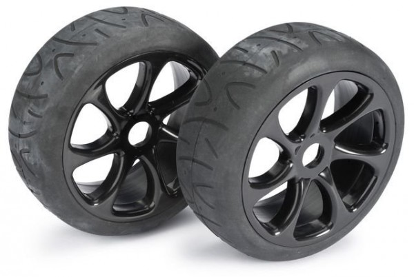 Wheel Set Buggy 7 Spoke / Street black 1:8  onroad