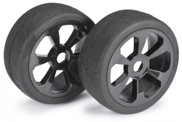 Wheel Set Buggy 6 Spoke / Street black 1:8  onroad