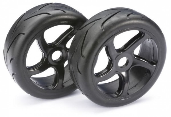 Wheel Set Buggy Street black 1:8 onroad