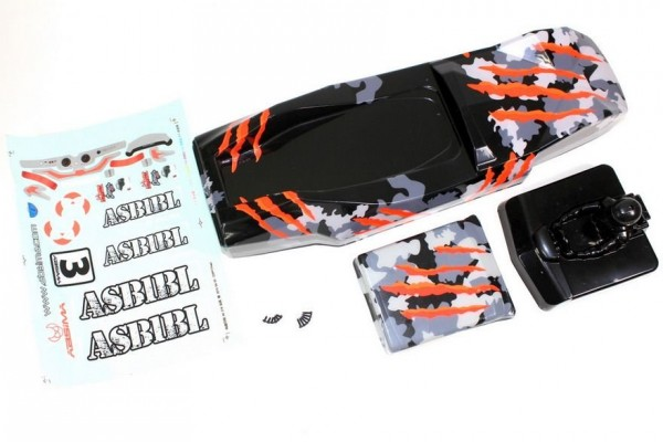 Absima 1230120 - Body camouflage/orange Sand Buggy