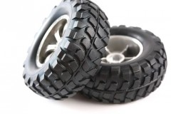RC Rock Block Tires - w/Tapered 6-Spoke Wheels, 2ks