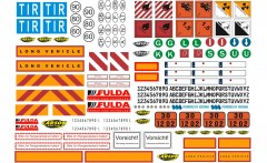 1:14 Sticker-Sheet Truck Caution-Signs
