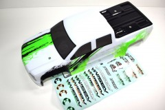 Absima 1230353 - Body green/white Monster Truck AMT2.4 RTR